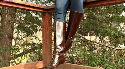 Boot, Leather, Shoeplay, Dangling, Boots fetish