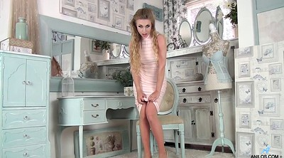 Blonde teen, Clothes, Softcore, Dressed, Heels solo, Tight dress
