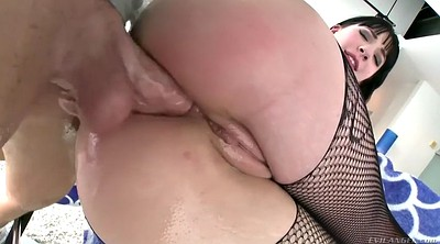 Pantyhose fuck, Oil, Gaping, Gag, Big ass pantyhose, Anal gape