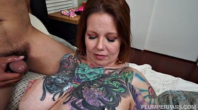 Huge cock, Tattoo, Huge tits