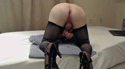 Heel masturbate, Stockings hd