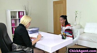 Czech casting, Agent, Lesbian eating pussy