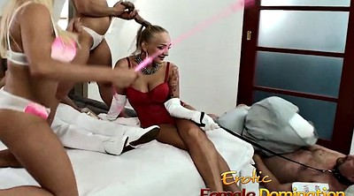 Slave, Foot slave, Dominatrix, Blond slave
