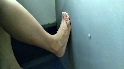 Bus, Foot job, Granny feet