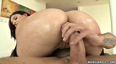 Sheena, Fat cock, Oiled anal, Anal bbw