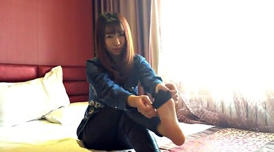 Asian foot, Nylon foot, Asian feet, Nylon feet, Footing