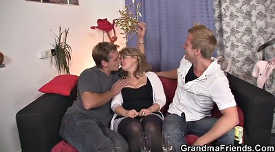 Mature wife, Wife threesome, Old lady