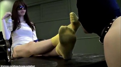 Asian, Socks, Dirty foot, Asian femdom