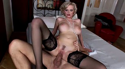 Lingerie anal, White blond, Anal busty