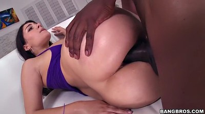 Black cock, Hairy interracial, Ebony facial