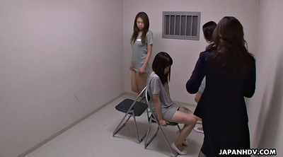 Hairy, Cumshot, Japanese group, Japanese girl, Japanese uniform, Prison