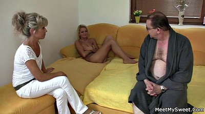 Family, Young girls, Mature milf, Family threesome, Families