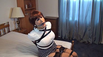 Bound, Crossdress, Sandra, Gagging, Crossdresser