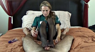 Nylon, Footjob, Nylon footjob, Fetish