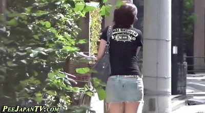 Public piss, Voyeur piss, Skirt, Japanese girl, Public pissing, Japanese outdoor
