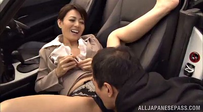 Mature, Japanese big tits, Hairy pussy, Erotic, Japanese mature blowjob, Japanese car