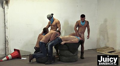Muscle, Gay muscle, Group fuck, Gay bareback, Public place, Place