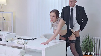Secretary, Ebony and black cumshot