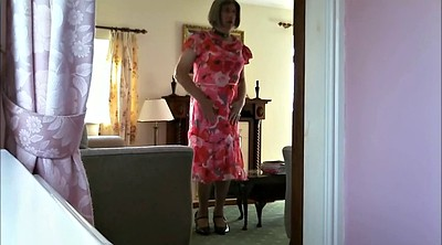 Granny solo, Mature solo, Dress, Crossdress, Gay pee