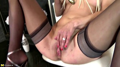 Real mom, Perfect body, Mature squirting, Granny mom