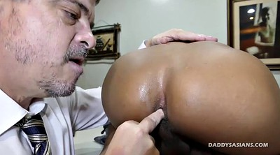 Dad, Big cock, Asian interracial, Asian feet, Asian dad