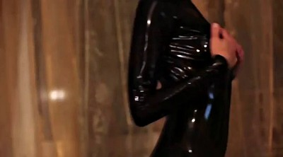 Latex, Black girl, High boots