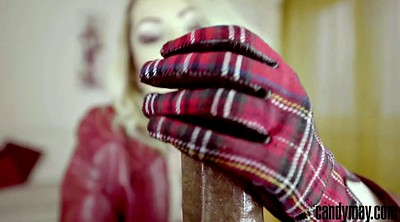 Gloves, Cfnm handjob, Candy