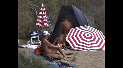 Beach sex, Horny, Voyeur couple, Public couple
