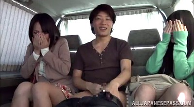 Asian car, Japanese babe, Asian babe, Japanese threesome, Car sex, Asian blowjob