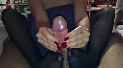 Footjob, Nylon feet, Nylon footjob, Nylon foot, Nylon handjob, Handjob nylon