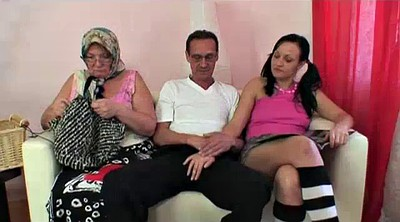 Old young, Bbw threesome