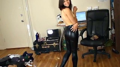 Leather, Latex bondage, Bound, Legs, Leather leggings