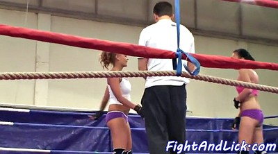 Lesbian wrestling, Boxing, Fighting, Ring, Box