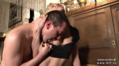 Mature cum in mouth, French mature, Bar