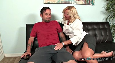 Law, Mother in law, Mature handjob, In law