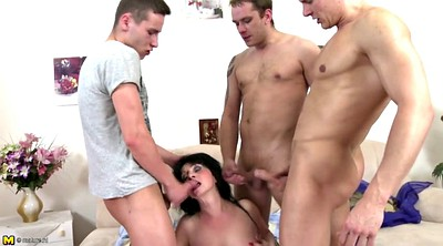Old young, Mother son, Mature gangbang