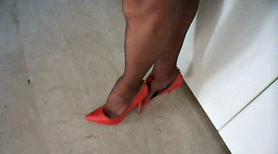 Nylon, Shoes, Office feet, Feet nylon