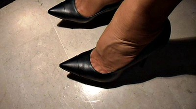 Nylon foot, Nylons, Shoes, Office feet, Nylon feet, Feet nylon