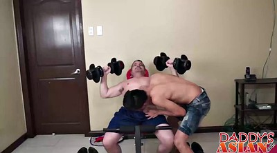 Dad, Workout, Daddy gay, Young gays, Dad gay, Young asian