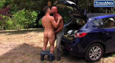 Kiss, Outdoors, Gay big cock