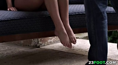 Teen footjob, Teen foot