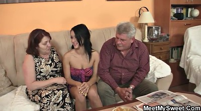 Grannies, Very young, Couples, Very old granny, Mature threesome, Granny threesome