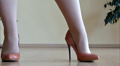 Heels, High heels, Foot tease, Shoe