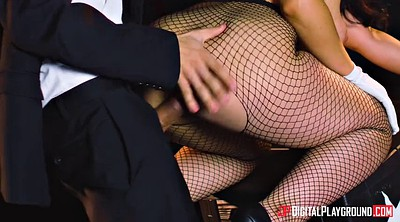 Pantyhose blowjob, Tits play
