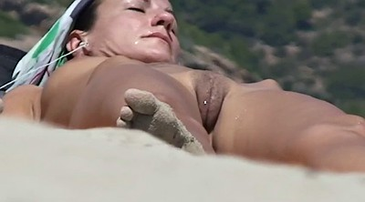Spread, Beach voyeur, Nude beach, Legs