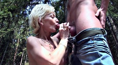 Granny big tits, Old young, German matures, On her knees, Hand, Granny slut