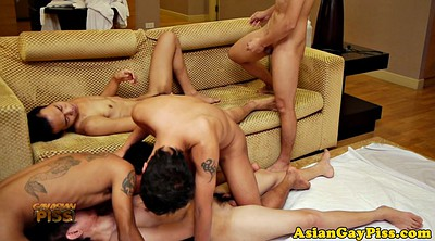 Asian group, Piss gay, Piss anal, Hd anal, Gay piss, Gay orgy