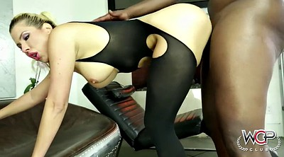 Milf, Chubby interracial anal, Ass pounding