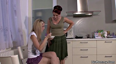 Lesbian moms, Old and young, Mom kitchen, Old and young lesbians, Milf kitchen, Kitchen mom