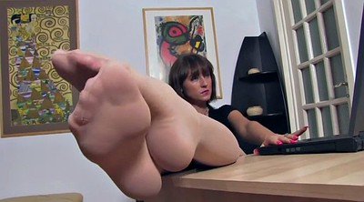 Nylon foot, Nylons, Secretary, Feet nylon